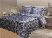 Zebra Satin Quilt Cover Set