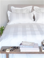 White 5cm Striped 1000TC Jacquard Quilt Cover