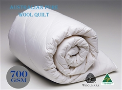 Australian Made Wool Quilt Japara Cotton Cover