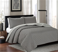 ARDOR EMBOSSED COVERLET CHARCOAL/SILVER