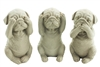 Dog set of 3 taupe