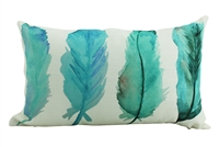 Inky feathers cushion 30x50cm