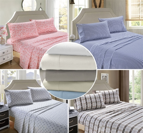 egyptian cotton flannelette sheet set