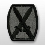 ACU Unit Patch with Hook Closure:  10TH MOUNTAIN INFANTRY