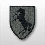 ACU Unit Patch with Hook Closure:  11TH ARMORED CAVALRY