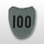 ACU Unit Patch with Hook Closure:  100TH INFANTRY TRAINING