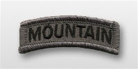 ACU Tab with Hook Closure:  MTN 10TH INFANTRY