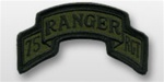 ACU Tab with Hook Closure:  75TH RANGER - Scrolled
