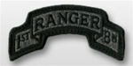 ACU Tab with Hook Closure:  75TH RANGER 1ST - Scrolled
