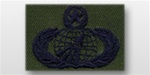 USAF Badges - Subdued Fatigue - Rayon Embroidered: Acquisition & Finance Management - Master