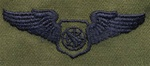 USAF Badges - Subdued Fatigue - Rayon Embroidered: Air Battle Manager
