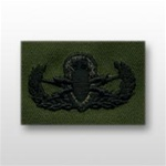 US Army Breast Badge Subdued Fatigue: Explosive Ordnance Disposal - OBSOLETE! AVAILABLE WHILE SUPPLIES LAST!