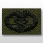 US Army Breast Badge Subdued Fatigue: Combat Medical 1st Award - OBSOLETE! AVAILABLE WHILE SUPPLIES LAST!