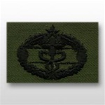 US Army Breast Badge Subdued Fatigue: Combat Medical 2nd Award - OBSOLETE! AVAILABLE WHILE SUPPLIES LAST!