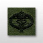 US Army Breast Badge Subdued Fatigue: Combat Medical 3rd Award - OBSOLETE! AVAILABLE WHILE SUPPLIES LAST!