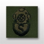 US Army Breast Badge Subdued Fatigue: Diver Salvage - OBSOLETE! AVAILABLE WHILE SUPPLIES LAST!