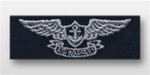 US Navy Breast Badge For Coveralls: Aviation Warfare Specialist