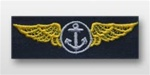 US Navy Breast Badge For Coveralls: Aviation Observer