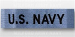 US NAVY Branch Tape:  US NAVY embroidered on CHAMBRELL - For Utility Shirt
