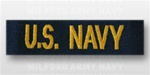 US NAVY Branch Tape:  US NAVY embroidered for COVERALL - Officer- CPO - GOLD