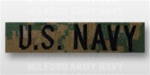 US NAVY Branch Tape:  US NAVY embroidered on DIGITAL WOODLAND (M.C.)