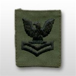 US Navy Cap Device Subdued: E-5 Petty Officer Second Class (PO2)