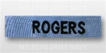 US Navy Name Tape:  Individual Name Embroidered on CHAMBRELL - For NAVY UTILITY SHIRT