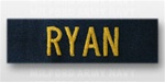 US Navy Name Tape:  Individual Name Embroidered - For NAVY COVERALL - Officer