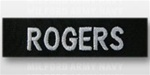 US Navy Name Tape:  Individual Name Embroidered on BLACK - For Black Jacket
