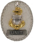 Regular Size Breast Badge: Senior EM Advisor - E-8 Unit (Silver)