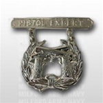 USMC Regulation Breast Insignia: Pistol Expert - Mirror Finish