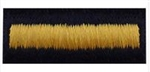 US Army Hashmarks: Overseas Bars - Male - Gold on Blue