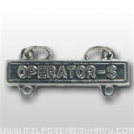 US Army Mirror Finish Qualification Bar: Operator S