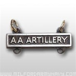 US Army Oxidized Qualification Bar: AA Artillery