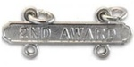 USMC Requal Bar:  Pistol -  2ND AWARD - Mirror Finish