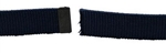 Blue Elastic Belt with Black Tip ONLY - 44 Inch Cut