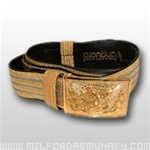 US Army Belt: INFANTRY - Officer Ceremonial Belt with Branch of Service - adjustable up to 51 Inches