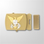 USCG Officer Emblem Gold Satin Buckle and Tip