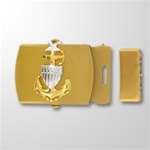 USCG CPO E8 Emblem Gold Satin Buckle and Tip