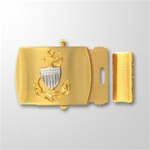 USCG CPO E7 Emblem Gold Satin Buckle and Tip