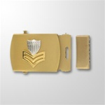 USCG PO 1st Class Emblem (E6) Gold Satin Buckle and Tip