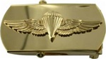 "US Navy Buckle for Male Personnel: Navy & Marine Corps Parachute - Officer - 3"" - 1 1/4"" Wide - Silver"