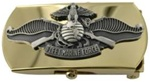 "US Navy Buckle for Male Personnel: Fleet Marine Force - Chief Petty Officer - 3"" - 1 1/4"" Wide - Gold"