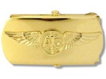 US Navy Buckle for Male Personnel: Aircrew CPO - Gold - 3""