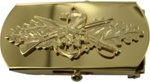 "US Navy Buckle for Male Personnel: Seabee - Officer - 3"" - 1 1/4"" Wide - Gold"