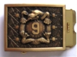 US Army Belt Buckle: 9th Infantry Insignia (MANCHU) - 1 1/4 Inch Buckle