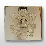 US Army Belt Buckle: Gold Flash 22k Buckle & Tip - Female