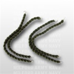 USMC Trouser Blouser: Green Elastic Twist On with Hooks - 2 pair per bag - 4 individual pieces