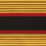 US Army Cap Braid with Specialty for Officer:  ADJUTANT GENERAL