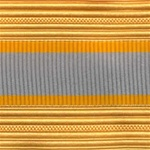US Army Cap Braid with Specialty for Officer:  FINANCE